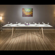 Oak More than 200cm Width Modern Tables