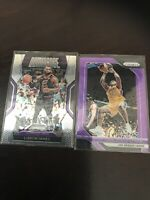 Panini Prizm Shaquille Oneal Purple Wave Basee Lakers Plus Lebron Insert