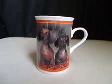 Danbury Mint Darling Dachshunds Weiner Dogs Porcelain Mug Cup School Days Puppy