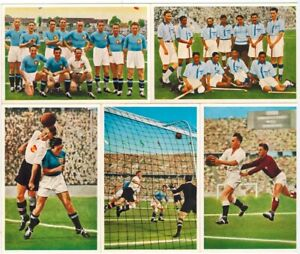 5x 1936 Olympic games Muhlen Franck Soccer cards, rare, WWII, old,vintage,Berlin