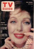 1962 TV Guide October 20 - Loretta Young; Jackie Gleason; Sam Benedict; Bob Hope
