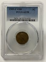 1909 S VDB PCGS AU58 Lincoln Cent
