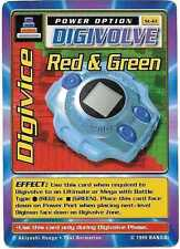 1999 Bandai Digimon Digivice Red & Green ST-61 Trading Card LP