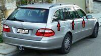 Mercedes E class S211 Estate 2003-2009 Chrome Windows Frame Trim 6 pcs S.STEEL
