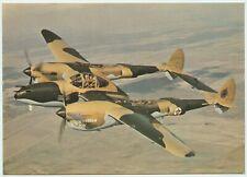 AFTER THE BATTLE POSTCARD - LOCKHEED P-38J LIGHTNING