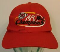 Vintage 1990s 1997 KANSAS CITY CHIEFS NFL Football AFC West Champs Snapback Hat