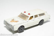 LESNEY MATCHBOX SUPERFAST 55 MERCURY POLICE CAR WHITE EXCELLENT CONDITION