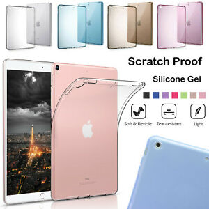 Clear Crystal Case Silicone Gel Shockproof Back Cover For iPad Air 1,2   5TH/6TH