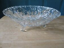 Retro Three-Toed Clear Glass Serving Bowl