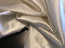 "NEW Luxury Ivory Crepe Satin Fabric 58"" 148cm Dress Cloth Material Garment Craft"