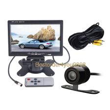 "7"" Car LCD Monitor + Waterproof Mini Reverse Camera Car Rear View Kit Wide 170º"
