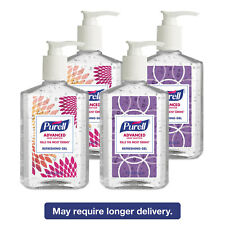 PURELL Advanced Instant Hand Sanitizer Gel Lemon Scent 8 oz Pump Bottle 4/Pack