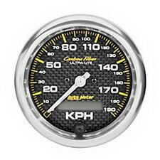 "Auto Meter 4787-M 3-3/8"" Speedometer Gauge 0-190 Km/H Electric Carbon Fiber"