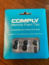 Comply Memory Foam Tips - Compatible with Echo Buds (Mixed Sizes, 3 Pairs)