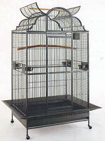 """NEW 63"""" Large Elegant Open Dome Play Top Parrot Macaw Bird Metal Cage 149"""
