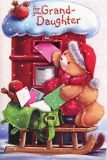 CUTE GRAND-DAUGHTER  CHRISTMAS CARD VARIOUS DESIGNS 1STP&P GREETING CARDS