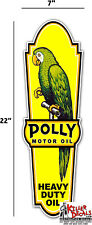"""(POLLY-LUB4) 22"""" front left facing POLLY LUBSTER DECAL GAS OIL PUMP SIGN STICKER"""