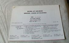BOEING JET AIRLINERS ORDERED LEASED DELIVERED JUNE 30 1976
