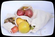 10 x 12 inches 100% Cotton Double Drawstring Reusable Multi Purpose Storage Bags