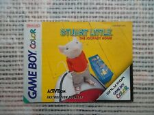 Notice Game Boy Color  / Stuart Little  the journey Home ukv  manuel Booklet *