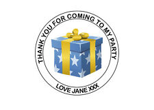 Personalised Gift Box Birthday Party bag Thank You 40mm Round Stickers 24