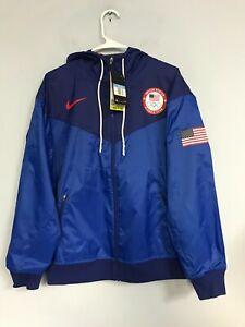 Nike Olympic TEAM USA Windrunner Jacket Men's Size M CK5813-455
