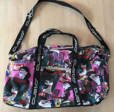 Custo Barcelona Duffle Gym Bag Colorful Pink Celebrity Print Shoulder Strap