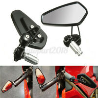 2X 7/8'' 22mm Motorcycle Rear View Handle Bar End Side Rearview Mirror Universal
