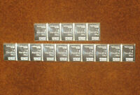 15 X 1 GRAM 999 FINE SILVER VALCAMBI SUISSE BULLION BARS!