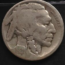 États-Unis 1921 S Buffalo Nickel San Francisco 5 Cents RARE RARE 3817
