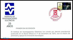 2214 MEXICO 2000 ELETRICAL INVESTIGATION INSTITUTE, 25th ANNIV., MI# 2885, FDC