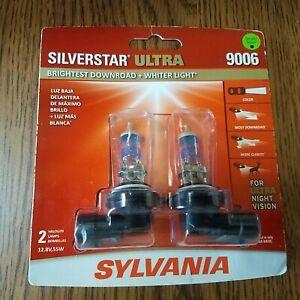 Sylvania Silverstar ULTRA 9006 Pair High Performance Headlight 2Bulbs BRAND NEW!