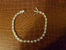 Bracelet en argent massif et strass