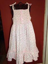 Laura Ashley Boutique Girls Sz. 4 Smocked Polka Dot Ruffle Dress - LN