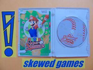 Mario Super Sluggers - cib - DD - Wii Nintendo