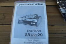 FISHER 28 AND 29 STEREO OPERATING INSTRUCTIONS / MANUAL