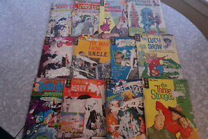 Gold Key 60's T.V.Comic Book Lot of 12  My Favorite Martian 3 Stooges FREE SHIP!