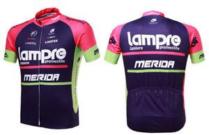 Mens Jersey Quick Dry short Sleeve Merida Cycling Outdoor sport LAMPRE Sportswea