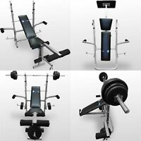 BodyRip Folding Weight Bench Gym Exercise Lifting Chest Press Leg Fitness