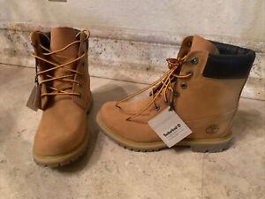 """Timberland 6"""" Premium Waterproof Women's Boot - Wheat Nubuck, US 9.5"""