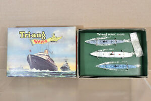 TRIANG MINIC SHIPS M894 ROYAL YACHT BRITANNIA with DESTROYER ESCORT BOXED nz