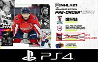 NHL 21 (PS4) Pre-Order DLC - NHL 94 Rewind, XP Boost, Hockey Bag-NO PACKS