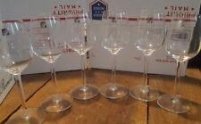 SET OF 6 LUIGI BORMIOLI CRYSTAL WINE LIGHT & MUSIC ITALY GLASSES GLASSWARE C255?