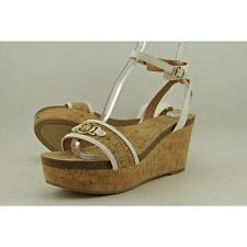 Tommy Hilfiger Hesley Women US 8.5 White Wedge Sandal Blemish 3421