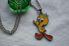 Kids childrens necklace Tweety bird Looney Tunes silver plated