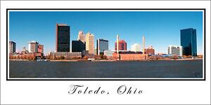 City Skyline Poster Panorama Toledo Ohio Panoramic Fine Art Print Photo 10x20