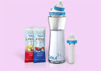 Cirkul Hydration Pack Water Bottle 22 oz Free Shatter Proof+2 Flavor Cartridges