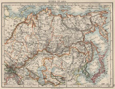 RUSSIA IN ASIA. Shows Trans-Siberian railway under construction  1900 old map