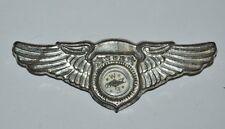"3"" Metal Pilot Wings & Working Compass Vintage Old Pinback Badge Pin Toy JAPAN"