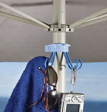 Beach Umbrella Hanging Hooks Adjustable Hanger Towel Organizer Accessory Holder